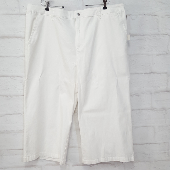 a new day Pants - A New Day Wide Leg Crop White 26 W
